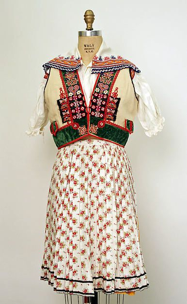 Ensemble Date: 1940 Culture: Czech Medium: (a) wool (b–n) cotton