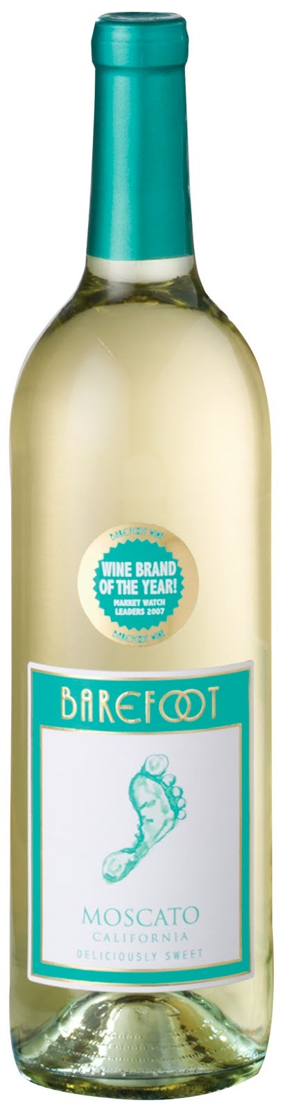 Barefoot Moscato wine -- the Writer's Little Helper