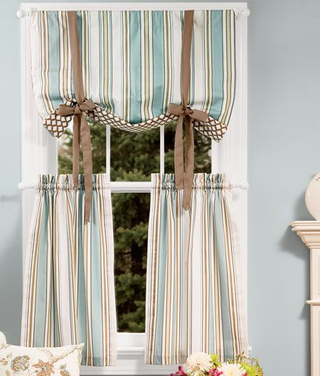 Sweetwater Stripe Tie-Up Valance from Country Curtains