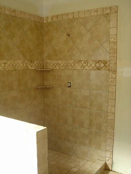 Border in 4x4 bathroom ideas pinterest tile showers for 4x4 bathroom ideas