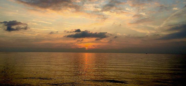 Sun set view from Kassandra Mare Hotel Greece