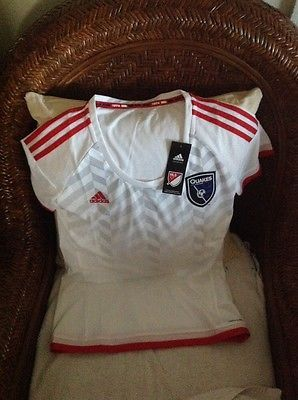 Adidas San Jose Earthquakes MLS soccer jersey new with tags size M womens
