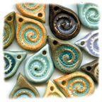 Price: $5 each  Swirl ceramic pendants