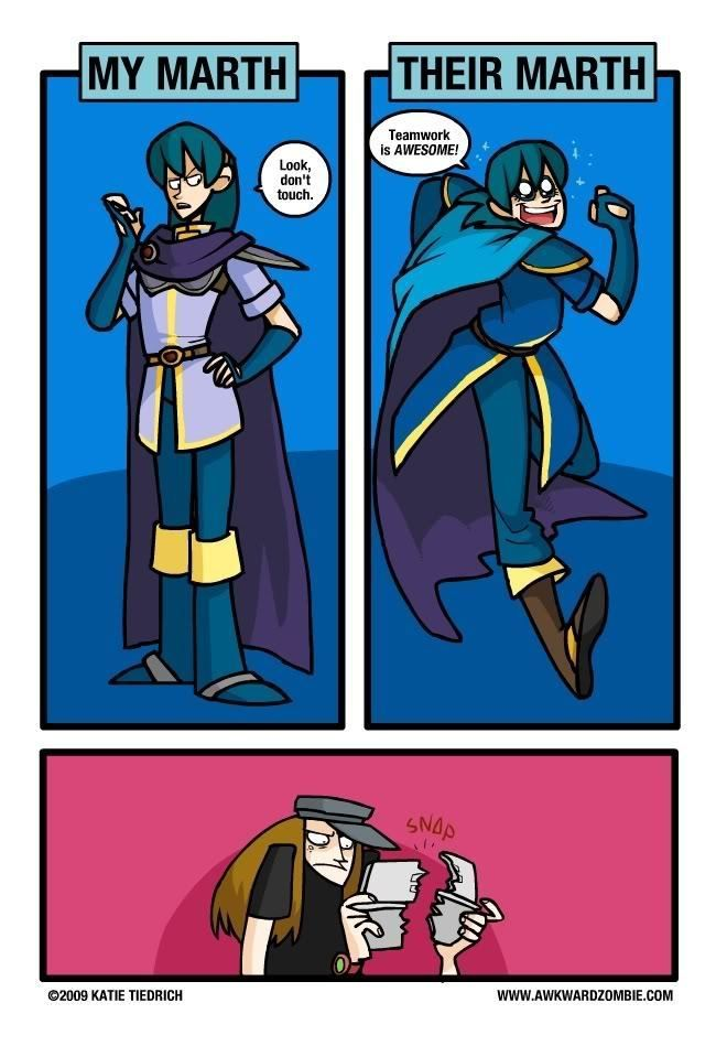 Awkward zombie. I like the awkward zombie marth the best