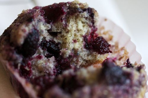 black raz muffins! perfect recipie to use up all of my wild black rasberries I froze last summer! Yummy! Plus I love this blogger!