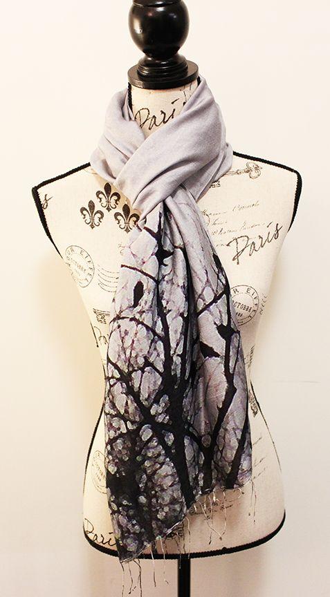 Handwoven Woollen scarf featuring Bird photographs by CHOBHI