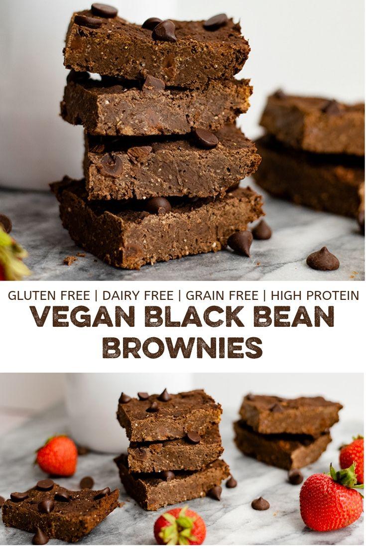 Vegan Black Bean Brownies Low Calorie Desserts Vegan Snack Recipes Clean Eating Vegetarian Recipes