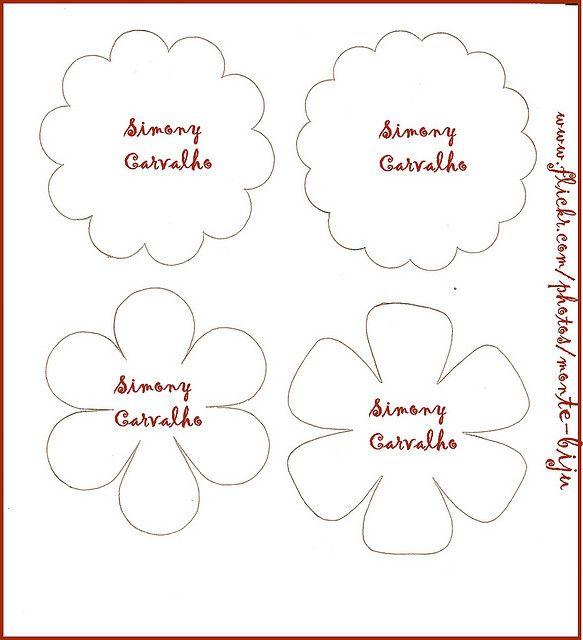 Molde Flores 4 Flower Templates
