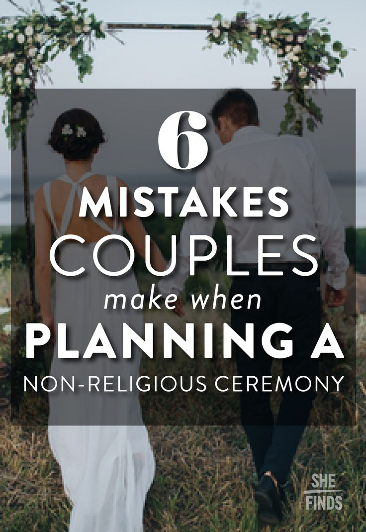 Wedding ceremony scripts for officiant - 6 Mistakes Couples Make When Planning A Non Religious Ceremony
