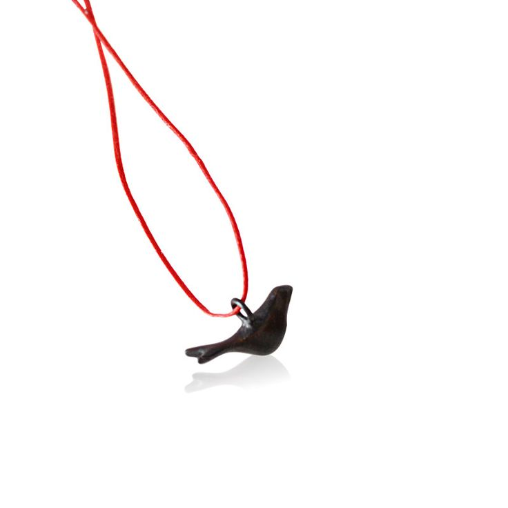 Jewelietta   Lovebird pendant (oxidized)