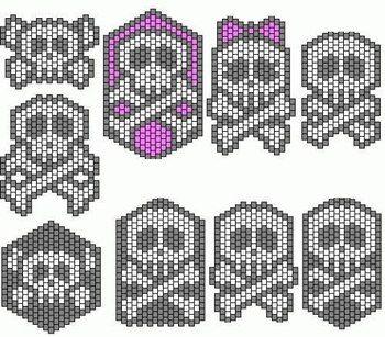 Рисунки черепа по клеточкам в тетради