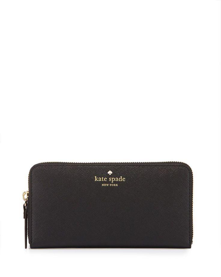 cedar street lacey wallet, black, Women's - kate spade new york