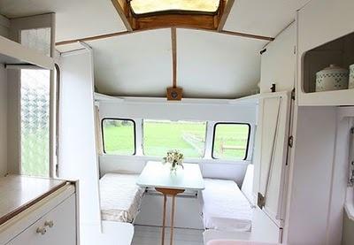 Caravan interior.