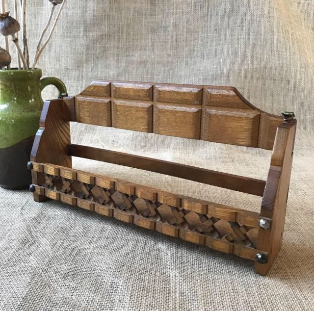 Vintage Wooden Hanging Shelf Spice Rack Other Home Decor