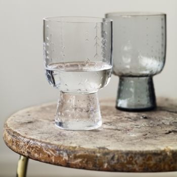 "Iittala Sarjaton glass 36 cl with ""Metsä"" (forest) pattern. My all time favorite glasses. So simple and beautiful!"