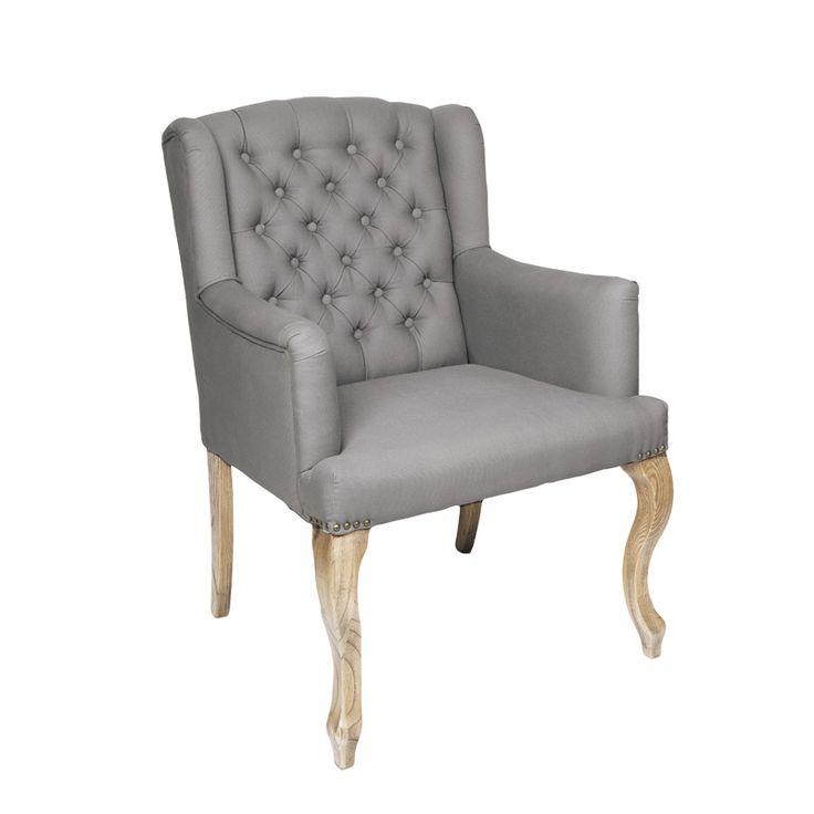Flott Lord stol i grå lin. Farge: grå Materiale: Heltre natureik og Lin. For mer info: www.krogh-design.no