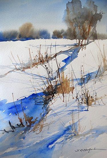 Porter's Day by Sandy Strohschein Watercolor ~ 12 x 9