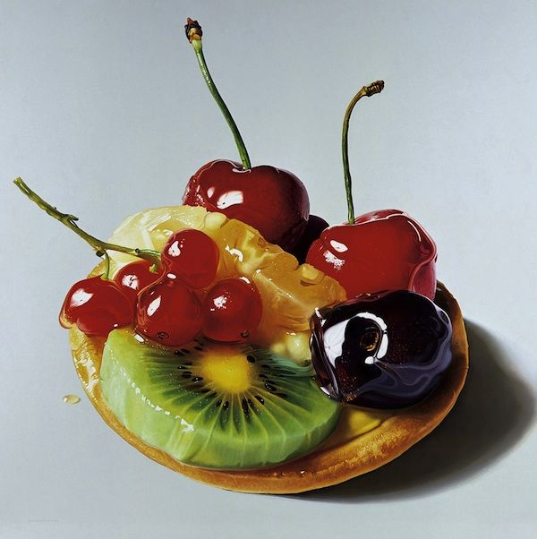 Hyperreal paintings of decadent desserts