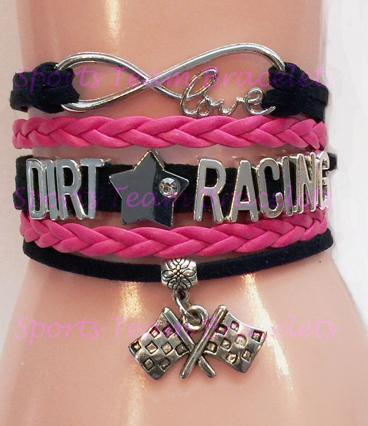 New Infinity Love Dirt Racing Cord Bracelets! Available in a variety of colors. Visit our site to order yours. #dirtracingbracelets #dirttrackracing