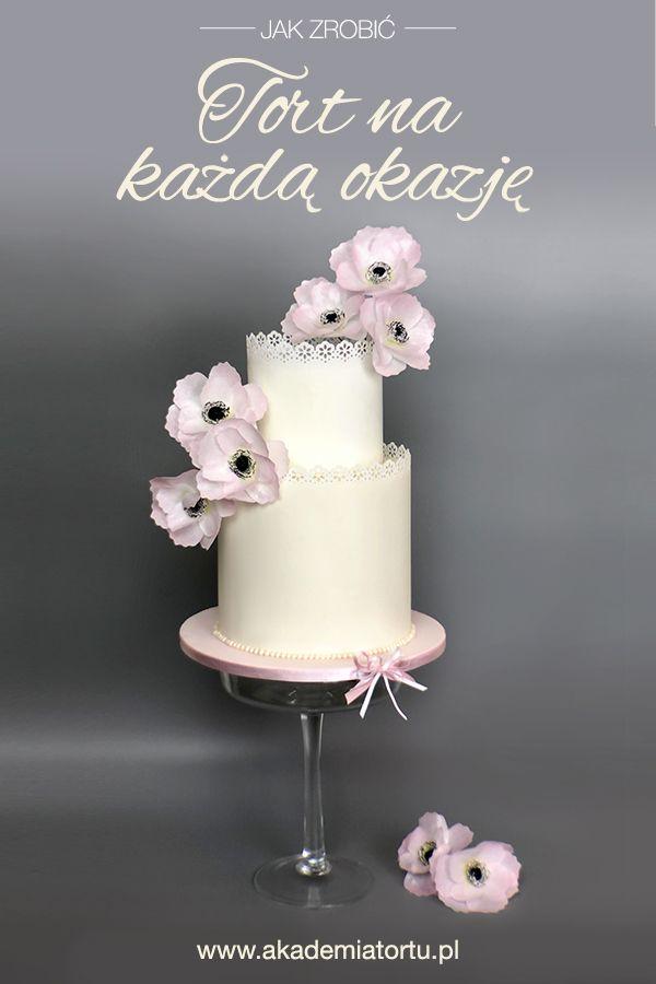 Tort Z Koronka Akademiatortu Pl Cake White Cakes Cooking Techniques