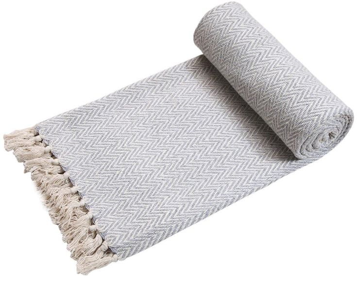 EHC Handwoven Reversible Single Sofa Throw Arm Chair Cover, Grey/Natural, 125 x 150cm: Amazon.co.uk: Kitchen & Home