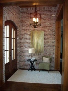 old st louis acme brick wall. McLarrin Flooring & Counter Tops traditional entry