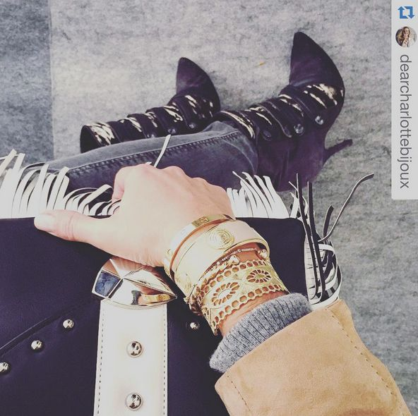 Vanessa Naudin Pinoncely from #Vogue Paris and #DearChalotte bijoux #pfw #gianlisa