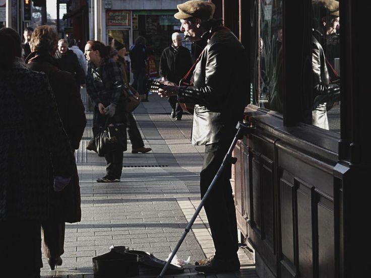 Artista di strada, a Dublino.