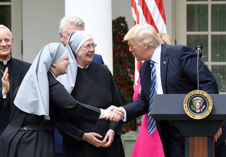 Wisconsin-based atheist group sues Trump over order on churches - An atheist group is asking a judge to strike down Donald Trump's order easing enforcement of an IRS rule limiting religious organizations' political activity.