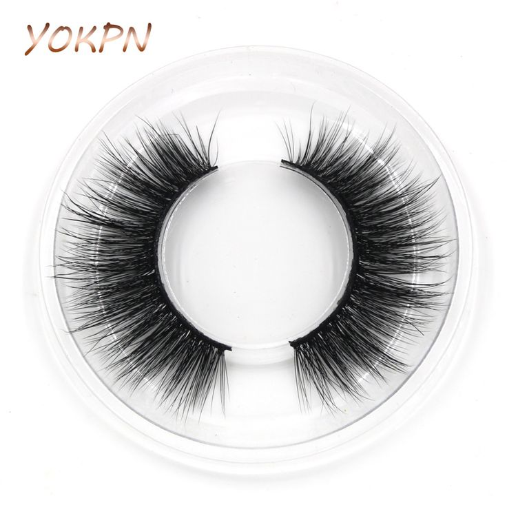 YOKPN Natural Long Mink False Eyelashes Handmade Soft Cotton Stalk Cross Curl Fake Eyelashes Dating Makeup Mink Eye Lashes D-42 #Affiliate