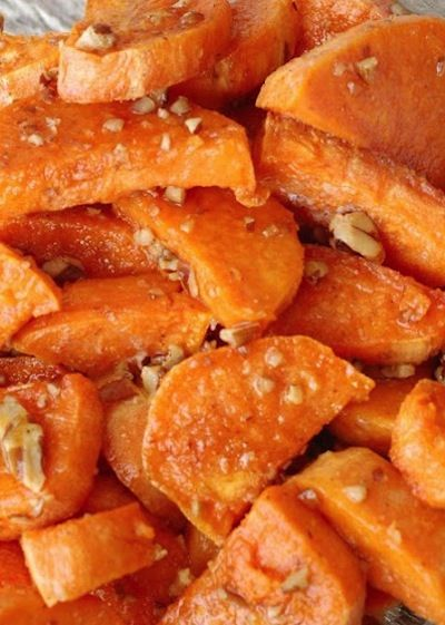 Butter Pecan Sweet Potatoes #sides #holidays