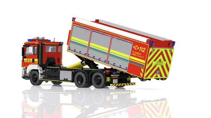 LEGO MAN TGS Hooklift Truck - Wechselladerfahrzeug | von Niklas-B