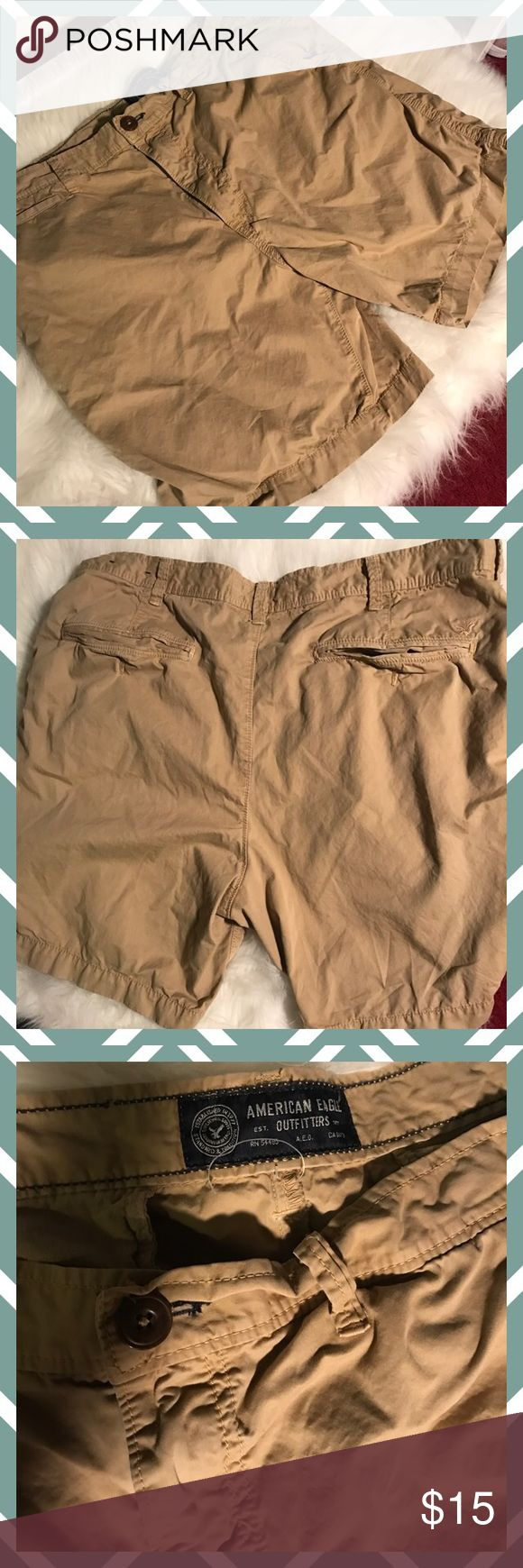 Mens AE tan shorts Men's shorts, good condition. No rips or tears. Priced to sell. American Eagle Outfitters Shorts