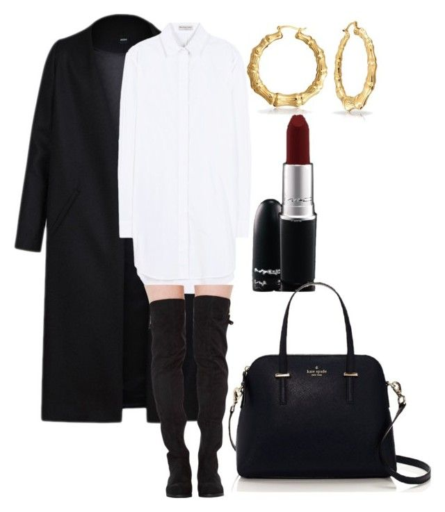 Ghetto Fabulous. by ncabs on Polyvore featuring polyvore, fashion, style, Balenciaga, Non, Kate Spade, Bling Jewelry, MAC Cosmetics and clothing