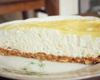 Cheesecake poire amande à l'agar agar