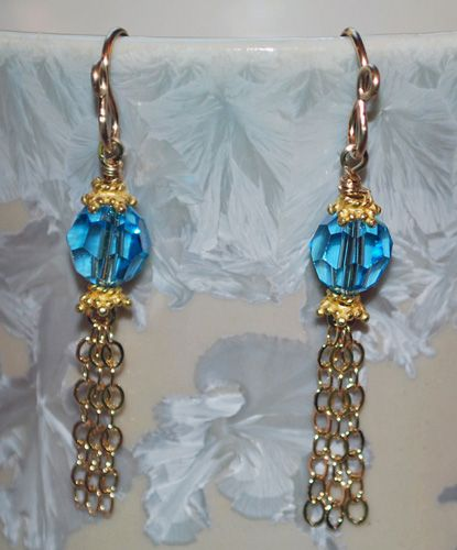 Ball and Chain Earrings pattern from wire sculptureWire Sculpture