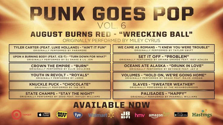 "Punk Goes Pop Vol. 6 - August Burns Red ""Wrecking Ball"""
