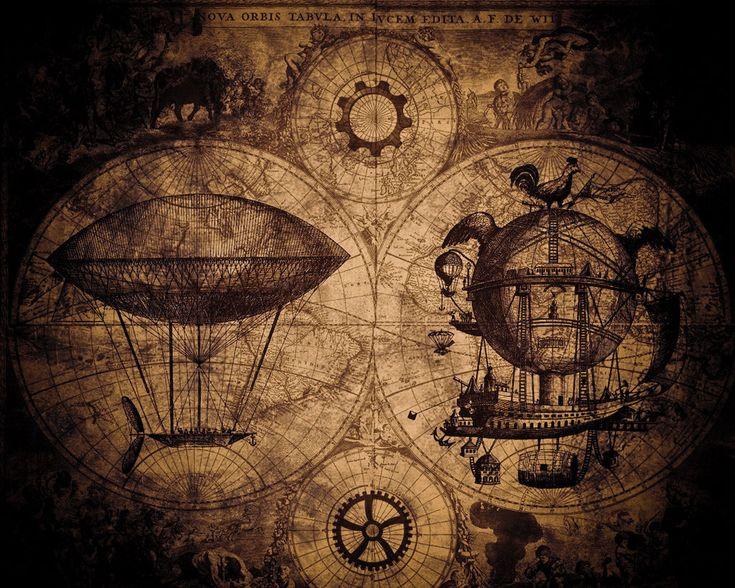 steampunk map wallpaper - photo #1