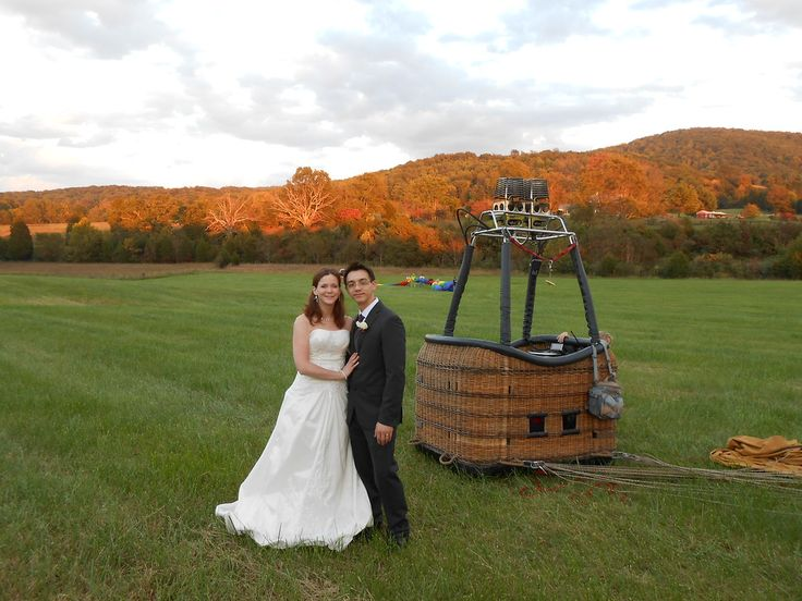 Getting married in front of or on a hot air balloon is an option in Central Virginia.