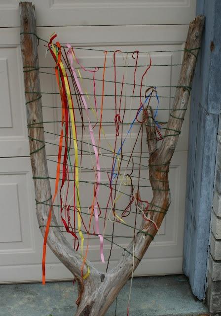 ideias para trabalhar no jardim de infancia:Weaving Project