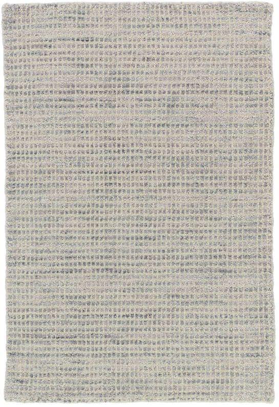 Homer Grey Loom Knotted Wool/Viscose Rug