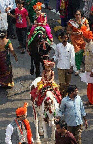 Gudi padwa celebrates in Maharashtra India