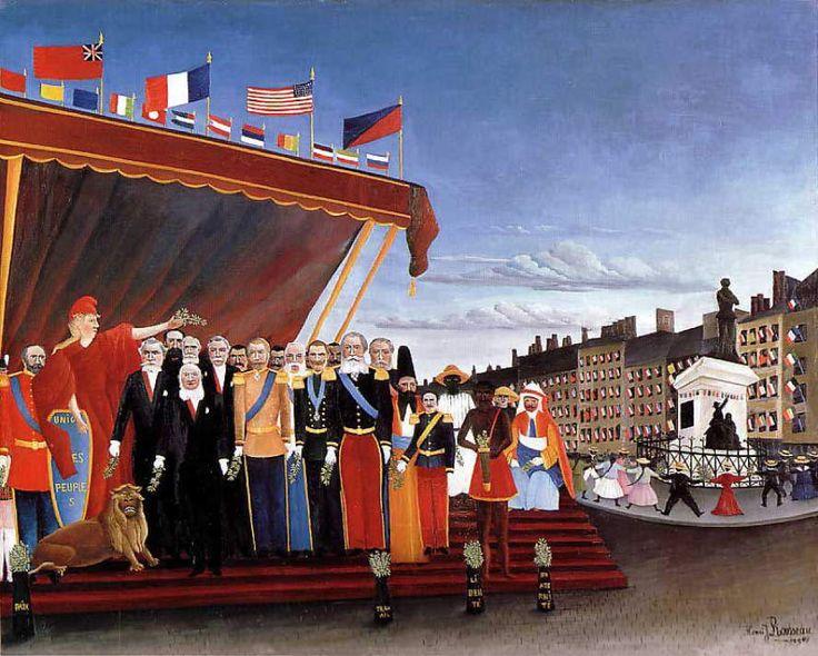 平和のしるしとして共和国に挨拶に来た諸大国の代表者たち  1907 Oil on canvas  130 x 161 cm  ピカソ美術館