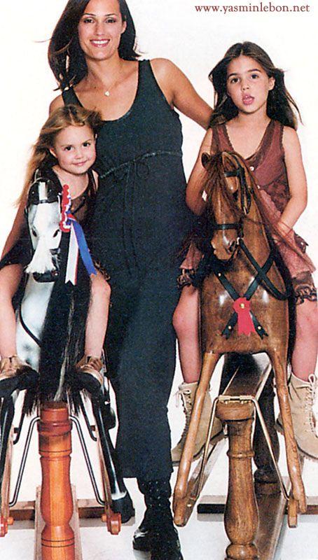 Yasmin, Amber & Saffron Le Bon 1995 vogue uk ghost