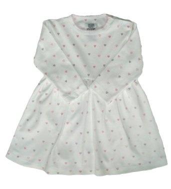 Noa Lily Dress, Pink Hearts, 24 Months.Pink Heart