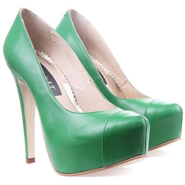 Pantofi  Verzi 295 Lei Glamour by AT found on Polyvore