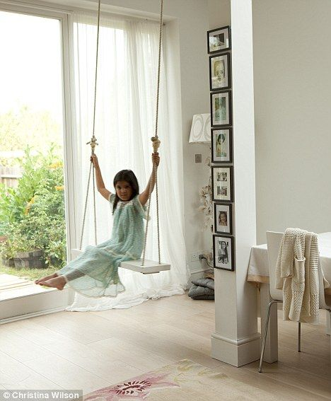 I have always wanted a room big enough for a swing like this!