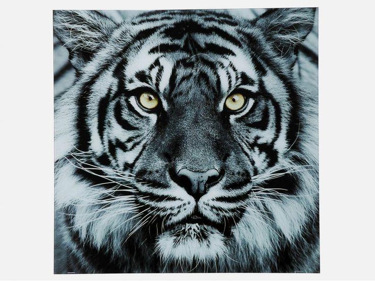 Obraz Face Tiger — Obrazy — KARE® Design #KARE #DESIGN #modern #furniture #ILOVEKARE #KARE24 #picture #tiger #grey
