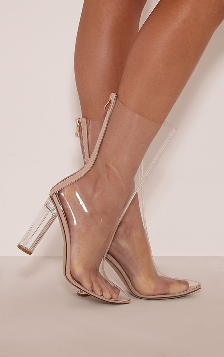 Zizi Clear Perspex Heeled Boots Image 2