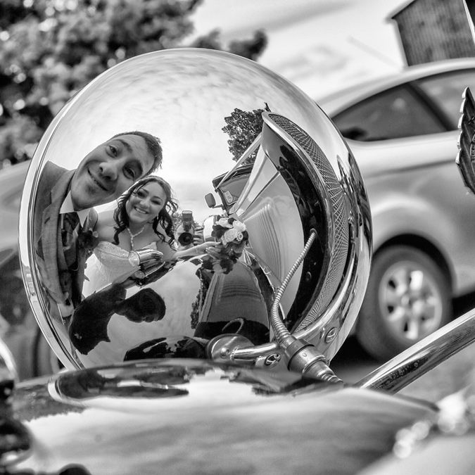 My Stuff: Haha, quirky car shot with Ness & Gaz. You've got to have a bit of fun when you photograph a wedding! - Andrew Wade Wedding Photography #weddings #weddingphotography #couples #quirkyweddings